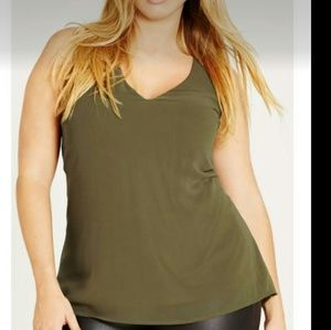 Cuty Chic Olive Green Top. Size Med=16
